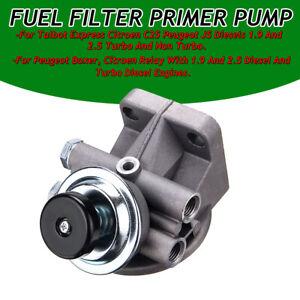 Fuel Filter Primer Pump for Citroen C25 Relay Peugeot J5 Boxer 5616776