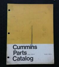 1965 GENUINE CUMMINS HR-6-IP SERIES DIESEL ENGINE PARTS MANUAL CATALOG VERY GOOD