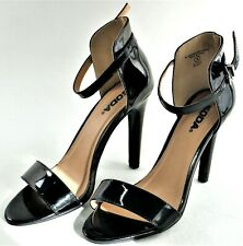 Womens Heels Black Strappy High Heels Slim Casual Summer Sexy Stiletto 8 Soda