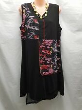CLARITY BLACK MULTI COLOURED LAYERED DRESS SPECIAL OCCASIONS SIZE S