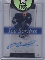Markus Naslund 2005-06 UD Trilogy Ice Scripts Signature Hard Signed Vancouver