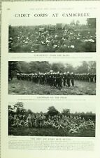1902 PRINT CADET CORPS AT CAMBERLEY ALLEYNIANS ETON GREY & LIGHT BLUE SCHOOLS