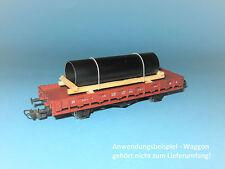 Ladegut H0 - Stahlrohr schwarz (L=85 mm) u.a. für Rungenwagen, Niederbordwagen