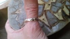 Vintage sterling silver hammered diamond design band new stock 1960