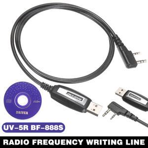 USB Programming Cable w/ CD For Baofeng UV-5R UV-3R+ BF-888S Radio Walkie Talkie