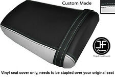 BLACK & WHITE VINYL CUSTOM FOR HONDA CBR 600 RR3 RR4 03-04 REAR SEAT COVER ONLY