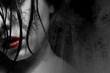 GRANDE stampa incorniciata-Il dolore di depressione (Gothic FOTO POSTER Emo Goth ART)