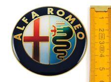 ALFA ROMEO ★ 4 Stück ★ SILIKON Ø55mm Aufkleber Emblem Felgenaufkleber Radkappen