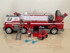 Paw Patrol Ultimate Rescue Fire Truck sounds lights Marshall and accessories