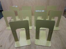 """LOT 10 - 9"""" BEIGE Metal Steel BOOK SHELF ENDS Industrial Library School E10"""