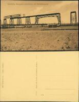 Ansichtskarte Rendsburg Hochbrücke im bau nördliche Rampenhochbrücken 1912