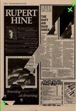Rupert Hine Waving Not Drowning Advert NME Cutting 1982