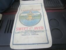 VINTAGE LAND O LAKES SWEET CLOVER FEED SEED SACK BAG INDIAN MAIDEN CLOTH