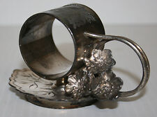 Victorian Silver Plated Napkin Ring Three Flowers From Loop Toronto Silver #1145