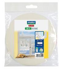 20 m Fenster-Dichtung 0,50€/m Türdichtung PE-Schaumstoffdichtung  UV best.  weiß