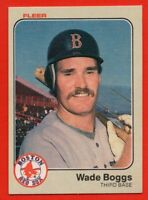 1983 Fleer #179 Wade Boggs NEAR MINT HOF Rookie RC Boston Red Sox FREE SHIPPING