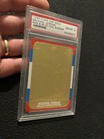 Michael Jordan 23k GOLD PSA 8 Fleer Card Serialized #1282 Chicago Bulls INVEST