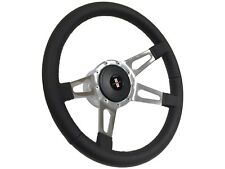 1969 - 1994 Chevy Camaro S9 Black Leather Steering Wheel Kit | Tri-Bar Camaro