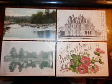 CONCORD NH - 4 RARE Postcards - CONTOOCOOK RIVER - GATEHOUSE - EASTER GREETINGS
