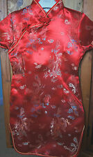 Girls Oriental Chinese Kimono Style Red Dragon Print Dress 3-5Y Chinese NY
