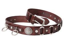 Chap belt Genuine leather handmade biker motorcycle mans BE34 BIKELIST