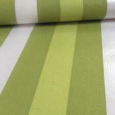 Grandeco Casa Doria Striped Pattern Metallic Motif Textured Wallpaper Green