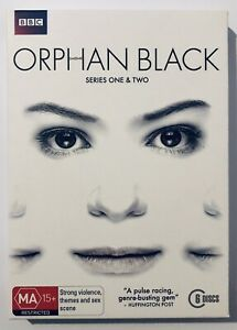 Orphan Black Series 1-2 (DVD, 6-Discs) VGC Slipcover Rated MA15+ Region 4 Aus