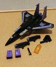 Vintage 1983 Takara Transformers G1 Decepticon Seeker Jet Skywarp - NOT COMPLETE