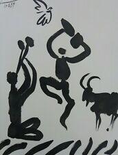 PABLO PICASSO (1881-1973) / LA DANSE DES FAUNES / ZW-W LITHO / 65x50cm / 1959