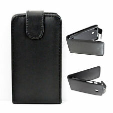 Magnetic Cell Phone Black Flip Leather Skin Pouch Case Cover For Motorola Moto E