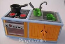 Playmobil Fregadero & Unidad de Cocina nuevos extras para moderno hotel Dollshouse// Cafe