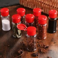 4PCS Plastic Spice Salt Pepper Seasoning Jar Can Condiment Jar Bottles Cruet  K