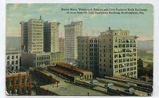 Panorama Downtown Birmingham Alabama 1918 postcard