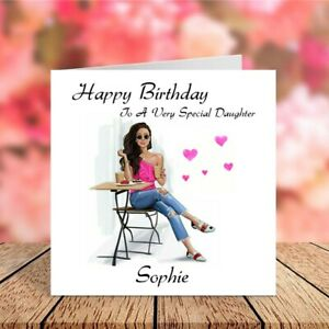 Personalised Birthday Card for Friend Daughter Sister Niece Cousin Female Cards