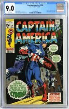 S051. CAPTAIN AMERICA #124 by Marvel Comics CGC 9.0 VF/NM (1970) WHITE Pages