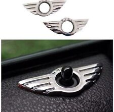 2 x 3D Car Metal Door Pin Badge For BMW MINI Cooper/S/ONE/Roadster/Clubman/Coupe