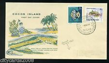 1971  COCOS KEELING ISLANDS 2c Shell & 4c Fish  on illustrated First Day Cover