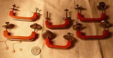 6 art deco TESTED bakelite metal Pull handles knobs 180 grams (s12211)