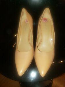 Po Wmns Natural Tan Nine West High Heel Shoe Sz 10