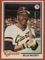 1978 O-PEE-CHEE #185 Willie McCovey Near Mint San Francisco Giants FREE SHIPPING