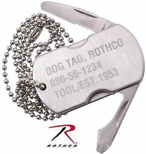 Rothco Dog Tag Multi-Tool w/ Knife, Bottle Opener, Screwdriver & File Necklace