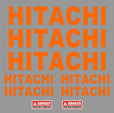 LARGE 550mm HITACHI Decals Stickers for Digger Excavator Pelle Bagger