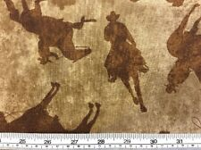 Benatex - Best Of The West - Silhouette Cowboys Fabric - 100% Cotton