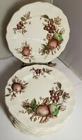 Vintage Set of 12 Johnson Brothers Harvest Time Bread Plates apples grapes EUC