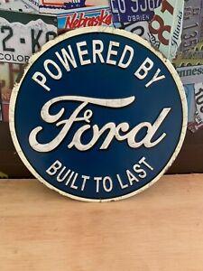 FORD POWER HEAVY EMBOSSED METAL SIGNN,CAR TRUCK SALES DEALER SHOP GARAGE NICE