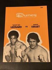 1979 Original Sugar Ray Leonard Vs. Adolpho Viruet Boxing Program Mint Condition