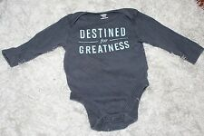 "Old Navy 3-6 Months Blue ""Destined For Greatness"", Baby Bodysuit, A+ Condition!"