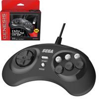 Retro-Bit Official SEGA Genesis USB 8-button Arcade Pad - Black