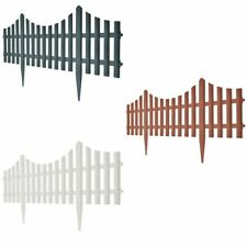 Us 17x Garden Fence Boarder 32.8ft Fencing Edging Picket Lawn Panel 3 Color