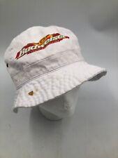 Rare BUDWEISER Bucket Hat RIVER CITY RASCALS White Cotton Vintage HOXER